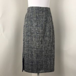 HALOGEN Midi Textured Knit Skirt